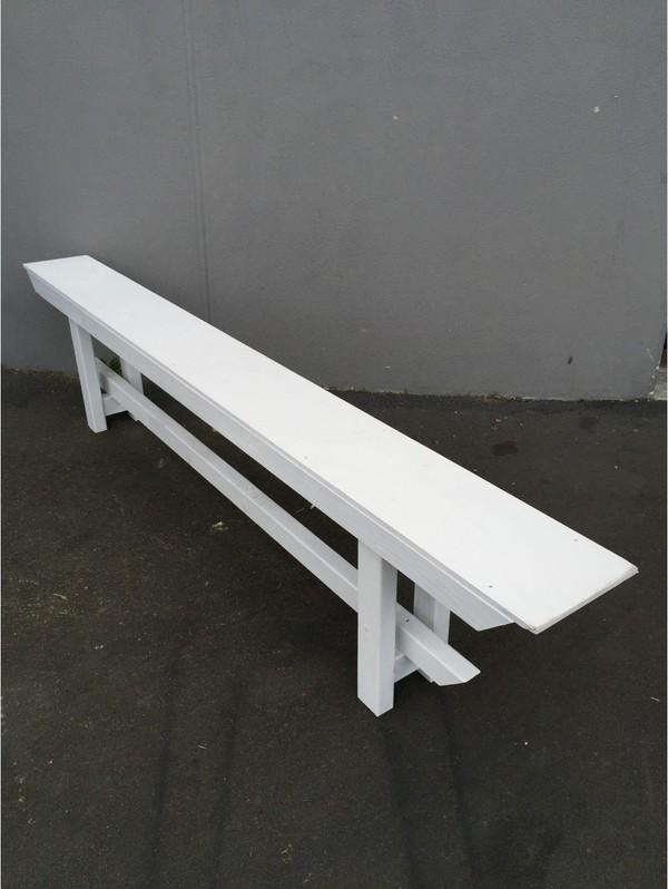 Wooden Bench Seat White