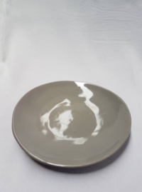 Irregular Side Plate Grey 20cm