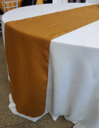 Bronze Mustard Linen Table Runner